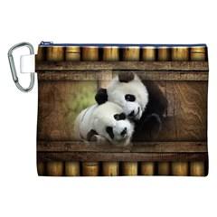 Panda Love Canvas Cosmetic Bag (XXL)