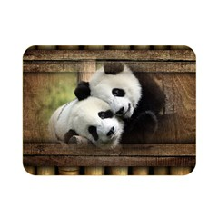 Panda Love Double Sided Flano Blanket (Mini)