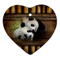 Panda Love Heart Ornament