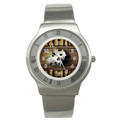 Panda Love Stainless Steel Watch (slim)