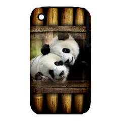 Panda Love Apple iPhone 3G/3GS Hardshell Case (PC+Silicone)