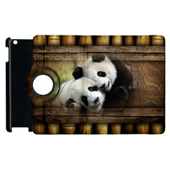 Panda Love Apple iPad 3/4 Flip 360 Case