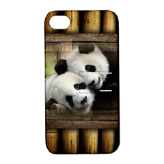 Panda Love Apple Iphone 4/4s Hardshell Case With Stand