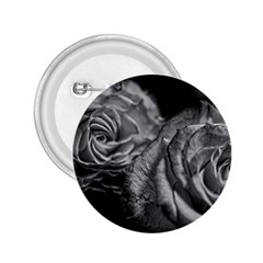 Black And White Tea Roses 2 25  Button