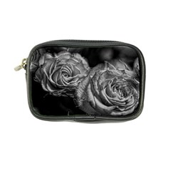 Black And White Tea Roses Coin Purse