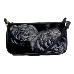 Black And White Tea Roses Evening Bag