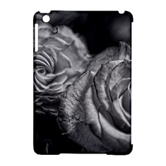 Black And White Tea Roses Apple Ipad Mini Hardshell Case (compatible With Smart Cover)