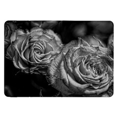 Black and White Tea Roses Samsung Galaxy Tab 8.9  P7300 Flip Case