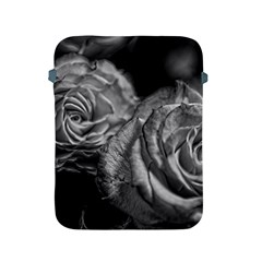 Black And White Tea Roses Apple Ipad Protective Sleeve