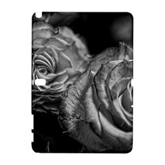 Black and White Tea Roses Samsung Galaxy Note 10.1 (P600) Hardshell Case