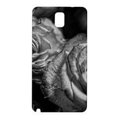 Black and White Tea Roses Samsung Galaxy Note 3 N9005 Hardshell Back Case