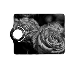 Black and White Tea Roses Kindle Fire HD (2013) Flip 360 Case
