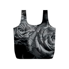 Black And White Tea Roses Reusable Bag (s)