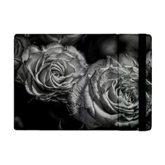 Black And White Tea Roses Apple Ipad Mini 2 Flip Case