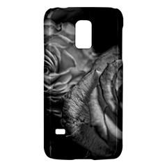 Black And White Tea Roses Samsung Galaxy S5 Mini Hardshell Case
