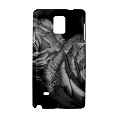 Black And White Tea Roses Samsung Galaxy Note 4 Hardshell Case