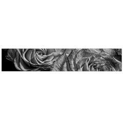 Black And White Tea Roses Flano Scarf (large)
