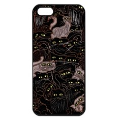 Black Cats Yellow Eyes Apple Iphone 5 Seamless Case (black)