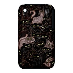 Black Cats Yellow Eyes Apple iPhone 3G/3GS Hardshell Case (PC+Silicone)