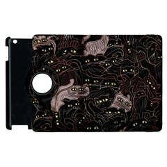 Black Cats Yellow Eyes Apple Ipad 3/4 Flip 360 Case