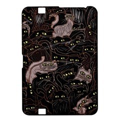 Black Cats Yellow Eyes Kindle Fire Hd 8 9  Hardshell Case