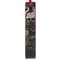 Black Cats Yellow Eyes Large Bookmark