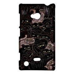 Black Cats Yellow Eyes Nokia Lumia 720 Hardshell Case