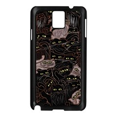 Black Cats Yellow Eyes Samsung Galaxy Note 3 N9005 Case (Black)