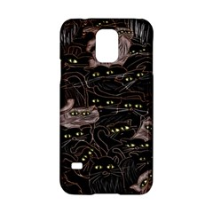 Black Cats Yellow Eyes Samsung Galaxy S5 Hardshell Case