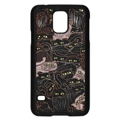 Black Cats Yellow Eyes Samsung Galaxy S5 Case (Black)