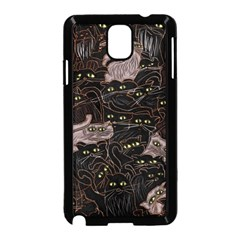 Black Cats Yellow Eyes Samsung Galaxy Note 3 Neo Hardshell Case (Black)