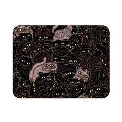 Black Cats Yellow Eyes Double Sided Flano Blanket (Mini)