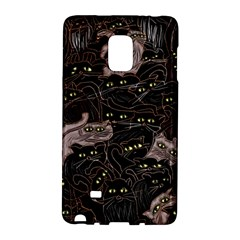 Black Cats Yellow Eyes Samsung Galaxy Note Edge Hardshell Case