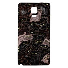 Black Cats Yellow Eyes Samsung Note 4 Hardshell Back Case