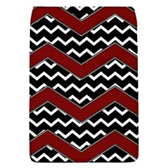 Black White Red Chevrons Removable Flap Cover (small)