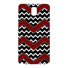 Black White Red Chevrons Samsung Galaxy Note 3 N9005 Hardshell Back Case