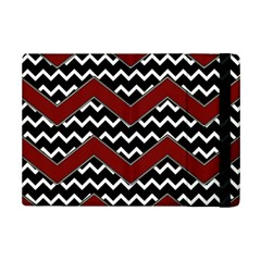 Black White Red Chevrons Apple iPad Mini 2 Flip Case