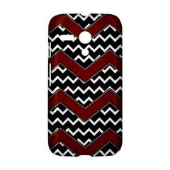 Black White Red Chevrons Motorola Moto G Hardshell Case