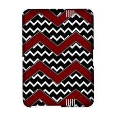 Black White Red Chevrons Kindle Fire HD Hardshell Case