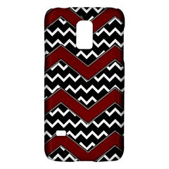 Black White Red Chevrons Samsung Galaxy S5 Mini Hardshell Case