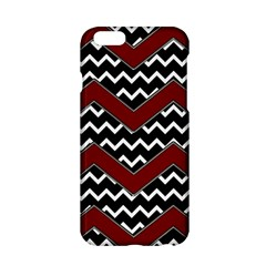Black White Red Chevrons Apple iPhone 6 Hardshell Case