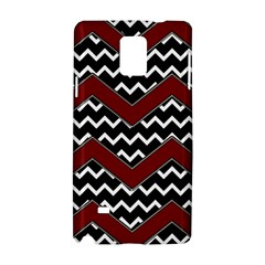 Black White Red Chevrons Samsung Galaxy Note 4 Hardshell Case