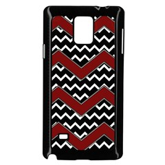 Black White Red Chevrons Samsung Galaxy Note 4 Case (Black)