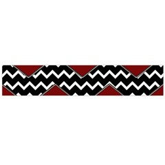 Black White Red Chevrons Flano Scarf (Large)