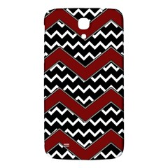 Black White Red Chevrons Samsung Galaxy Mega I9200 Hardshell Back Case