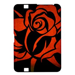 Red Rose Etching On Black Kindle Fire Hd 8 9  Hardshell Case