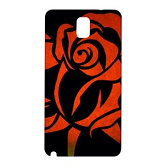 Red Rose Etching On Black Samsung Galaxy Note 3 N9005 Hardshell Back Case