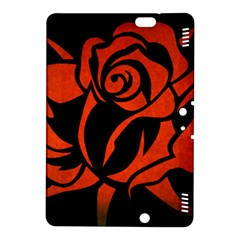 Red Rose Etching On Black Kindle Fire Hdx 8 9  Hardshell Case