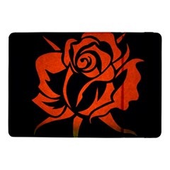 Red Rose Etching On Black Samsung Galaxy Tab Pro 10.1  Flip Case