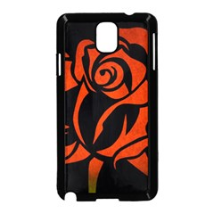 Red Rose Etching On Black Samsung Galaxy Note 3 Neo Hardshell Case (black)